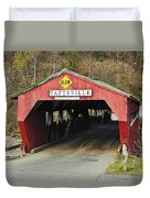 Covered Bridge Vermont Duvet Cover