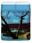 Covered Bridge Vivid Afternoon Duvet Cover