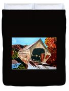 Covered Bridge Woodstock Vt Duvet Cover