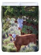 Cow And Calf Duvet Cover