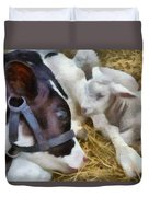 Cow And Lambs Duvet Cover