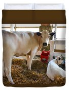 Cow And Little Calf Duvet Cover