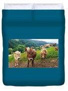 Cow Gazing  Duvet Cover