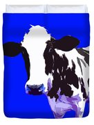 Cow In A Blue World Duvet Cover
