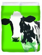 Cow In A Green World Duvet Cover