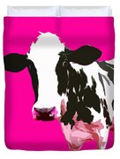 Cow In A Pink World Duvet Cover