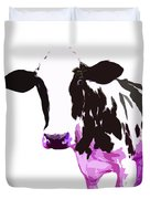 Cow In A White World Duvet Cover