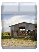 Cow In The Pasture Duvet Cover