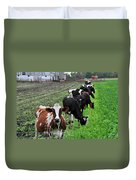 Cow Line Up Duvet Cover