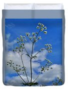 Cow Parsley Blossoms Duvet Cover