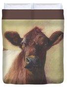 Cow Portrait IIi - Pregnant Pause Duvet Cover