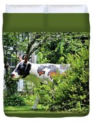 Cow Statue Duvet Cover