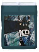 Cow With A Pearl Earring Duvet Cover