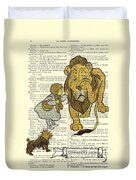 Cowardly Lion, The Wizard Of Oz Scene Duvet Cover