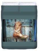 Cowboy Boot Rack Duvet Cover