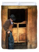 Cowboy By Saloon Doors Duvet Cover