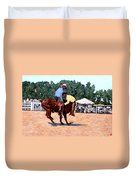 Cowboy Conundrum Duvet Cover by Tom Roderick