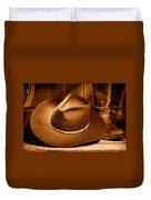 Cowboy Hat - Sepia Duvet Cover