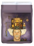 Cowboy Karl Duvet Cover by Leah Saulnier The Painting Maniac