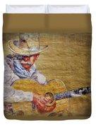 Cowboy Poet Duvet Cover