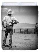 Cowboy Stance Duvet Cover