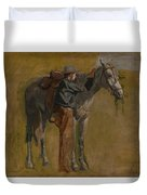 Cowboy - Study For Cowboys In The Badlands Duvet Cover