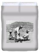 Cowboys: Branding Cattle Duvet Cover