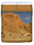 Cowboys Chasing Horses Duvet Cover