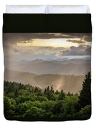 Cowee Mountains Sunset 2 Duvet Cover
