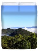 Cowee Overlook At Black Rock Mountain State Park Duvet Cover