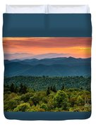 Cowee Sunset. Duvet Cover