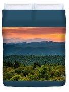 Cowee Sunset. Duvet Cover