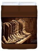 Cowgirl Boots Collection Duvet Cover