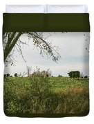 Cows And Farm In Michigan  Duvet Cover