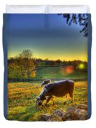 Cows And Stone Fences Duvet Cover