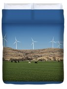 Cows And Windmills Duvet Cover