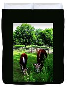 Cows Grazing Duvet Cover