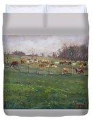 Cows In A Farm, Georgetown  Duvet Cover