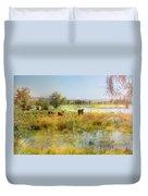 Cows In The Desert Duvet Cover