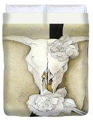 Cow's Skull With Calico Roses By Georgia O'keeffe Duvet Cover