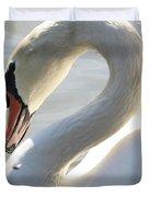 Coy Swan Duvet Cover