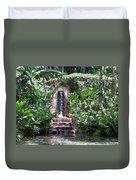 Coyaba Garden Ornamental Fountain Duvet Cover