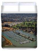 Coyote Point Marina San Francisco Bay Sfo California Duvet Cover