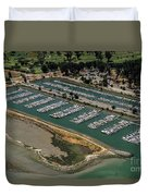 Coyote Point Yacht Club In San Mateo, California Duvet Cover