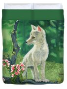 Coyote Pup Duvet Cover