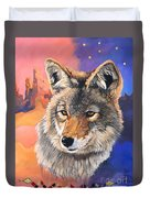 Coyote The Trickster Duvet Cover