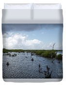 Ominous Clouds Over A Cozumel Mexico Swamp  Duvet Cover