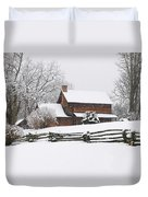 Cozy Snow Cabin Duvet Cover