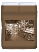 Cozy Southern Porch Duvet Cover by Carol Groenen