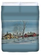 Cozy Winter Night Duvet Cover